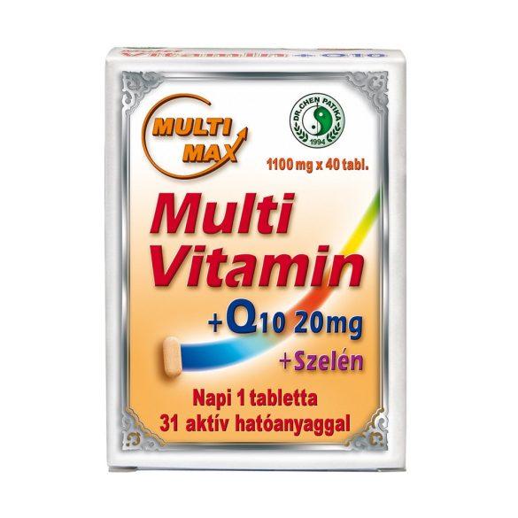 Dr.Chen Multi-Max vitamin+20mg Q10+Szel. tabletta 40 db