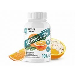 Natur Tanya® Szerves C-500 rágótabletta – 500mg C-vitamin, citrus bioflavonoidokkal dúsítva 100x