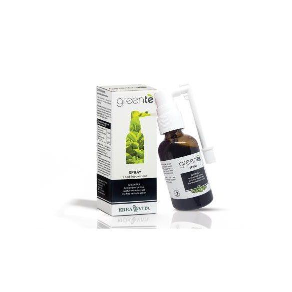 ErbaVita® Greente' antioxidáns spray - étvágycsökkentő, zsírégető. Csak a nyelv alá kell fújni az étkezések előtt. 30ml