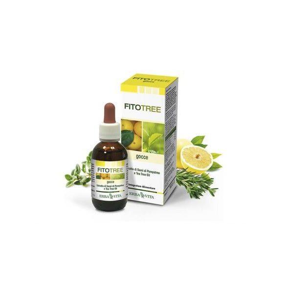ErbaVita® FitoTree Baktériumölő, fertőtlenítő grapefruit, teafa, rozmaring és kakukkfű olaj - Külsőleg/Belsőleg! 30 ml