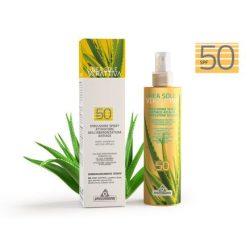 Specchiasol® Verattiva® 50 faktoros Napozó spray - gyerekek, felnőttek, érzékeny bőrűek. Vegyi anyag mentes. 200 ml