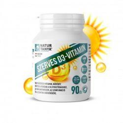 Natur Tanya® Szerves D3-vitamin 4000NE 90x növényi kapszulatokban, E-vitaminnal