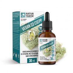 Natur Tanya® VEGÁN D3-vitamin csepp rénszarvaszuzmóból, olíva- és MCT olajban oldva 30ml - már 3 éves kortól