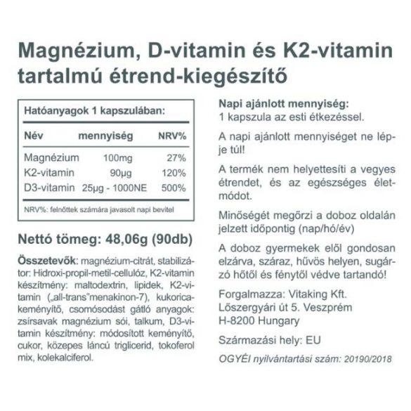Vitaking MagneTrio (Mg+D3+K2) 90x