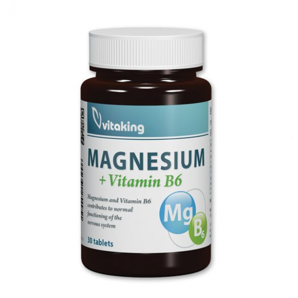 Vitaking Magnézium citrát + B6 vitamin 30x