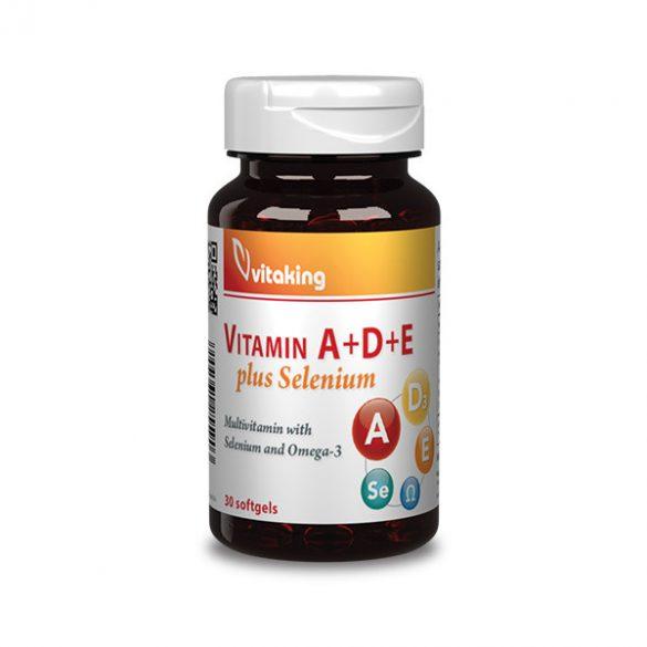 Vitaking A+D+E plus Szelén vitamin 30x