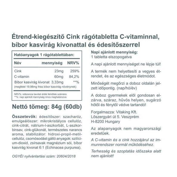 Vitaking Cink Immuno 23mg 60x