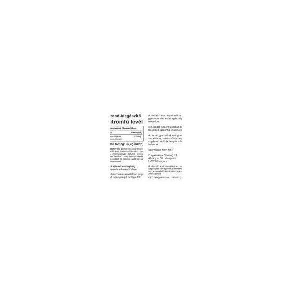 Vitaking Citromfű levél 60x