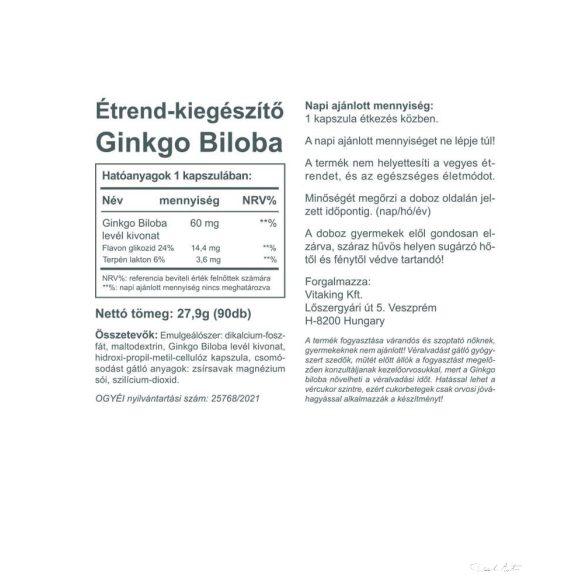 Vitaking Ginkgo Biloba 60mg 90x