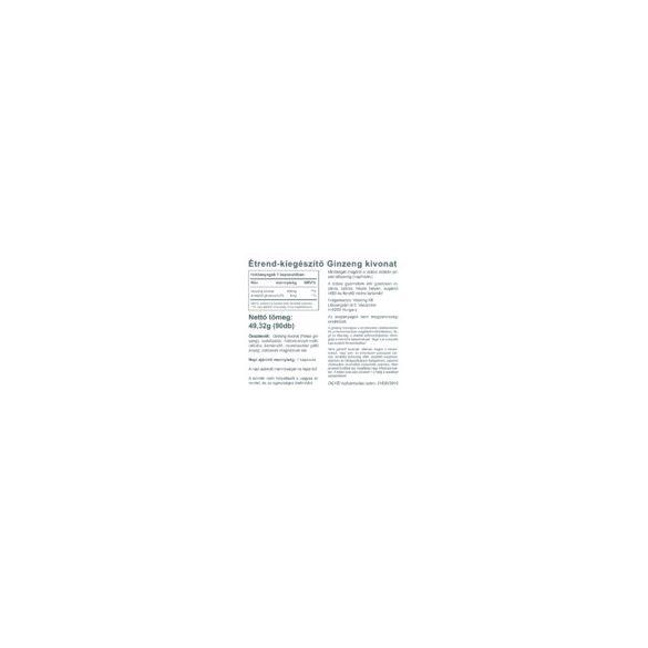 Vitaking Ginzeng kivonat 400mg 90x