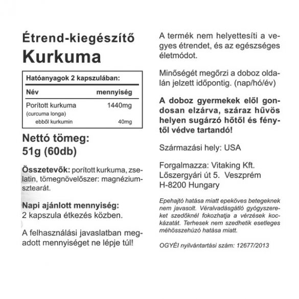 Vitaking Kurkuma 60x