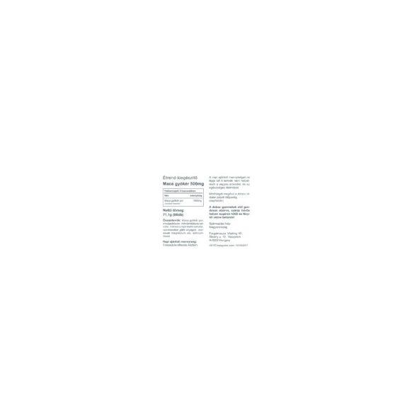 Vitaking Maca 90x - energizáló, libidó növelő, hormonháztartást rendező