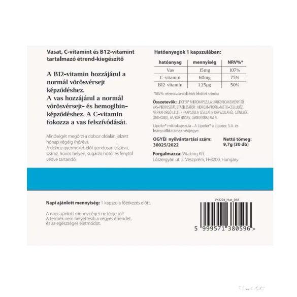 VitaFer® Caps Liposzómás vaskészítmény kapszula 30x