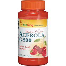 Vitaking Acerola C-500 rágótabletta 40x