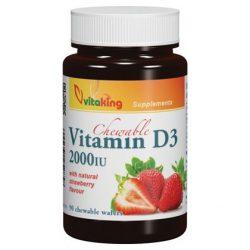 Vitaking D3-vitamin epres – 90db rágótabletta