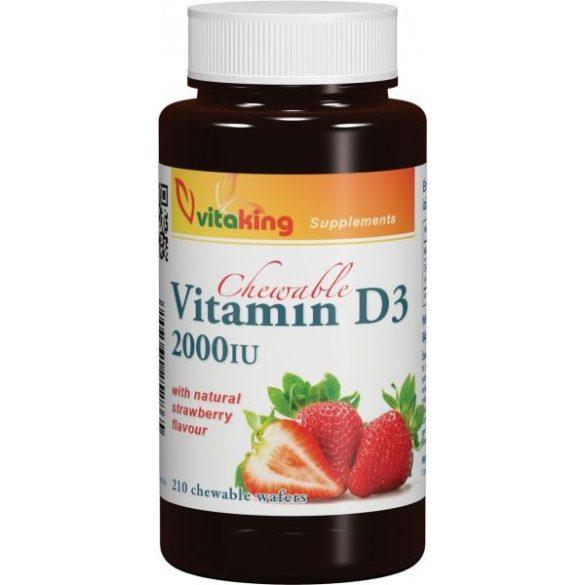 Vitaking D3-vitamin epres – 210x rágótabletta