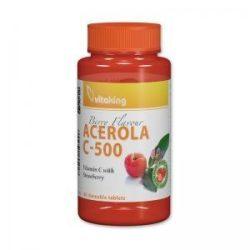 Vitaking Acerola C-500 rágótabletta EPRES 40 x
